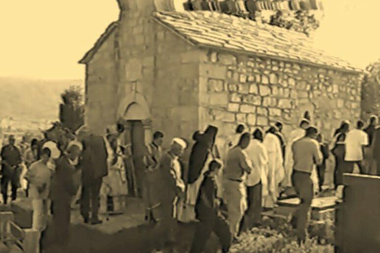 Освештавање обновљене цркве Светог Николе у селу Подљут у Бањанима