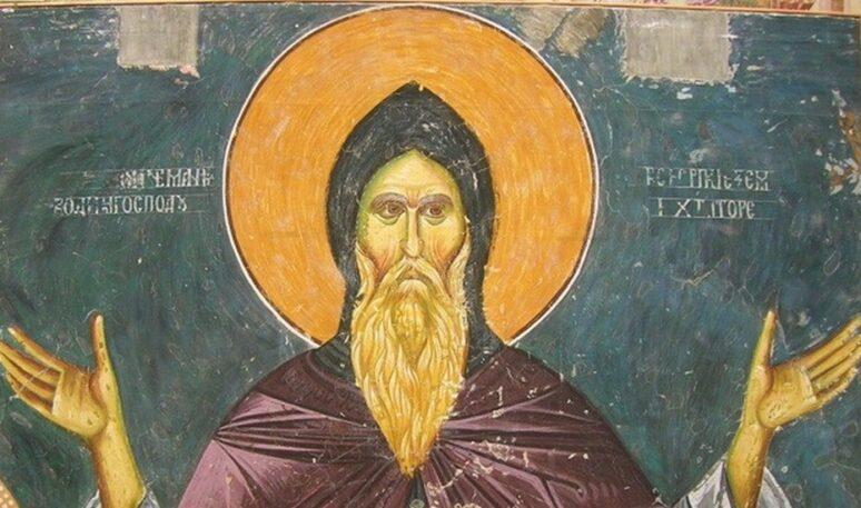 Sveti Simeon Mirotočivi Freska Bogorodica Ljeviška