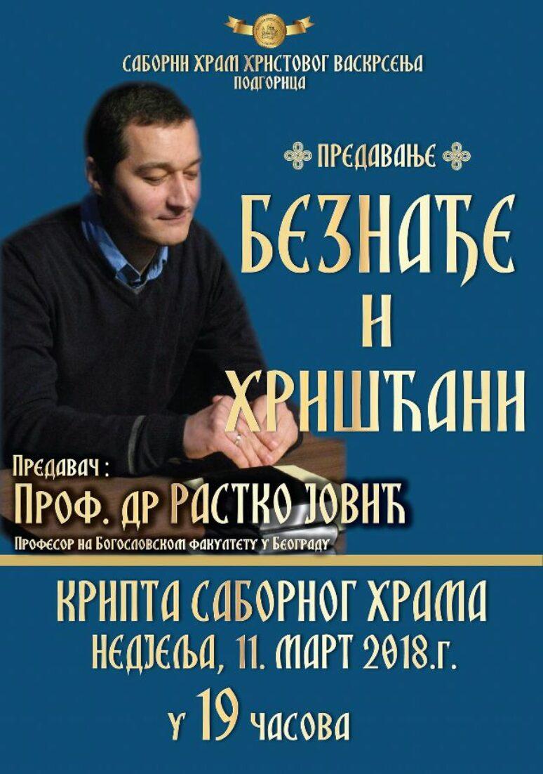 Predavanje Prof Rastko Jovic