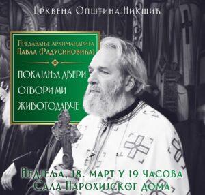 Najava Za Predavanje Oca Pavla
