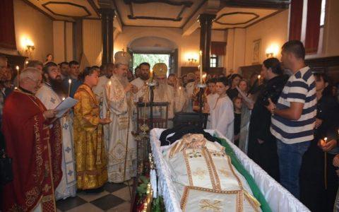 Молитвени испраћај архимандрита Варнаве, игумана манастира Савина