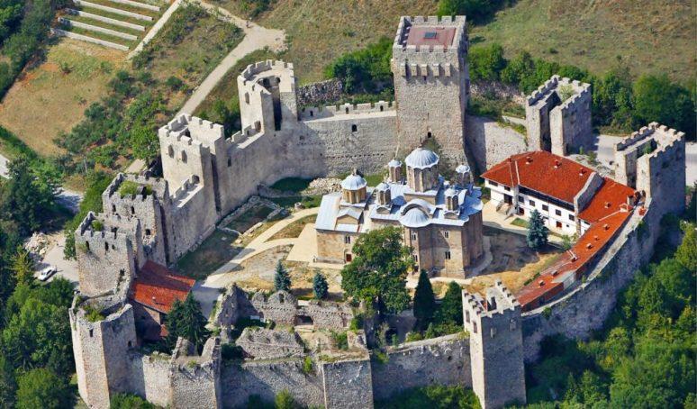 Manasija Monastery Sky View
