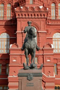 Statue Of Marshal Zhukov, Moscow