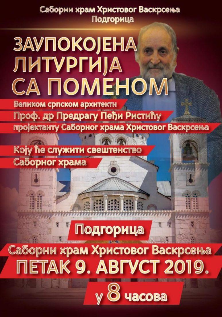 Plakat Zaupokojena Liturgija Pedja Ristic
