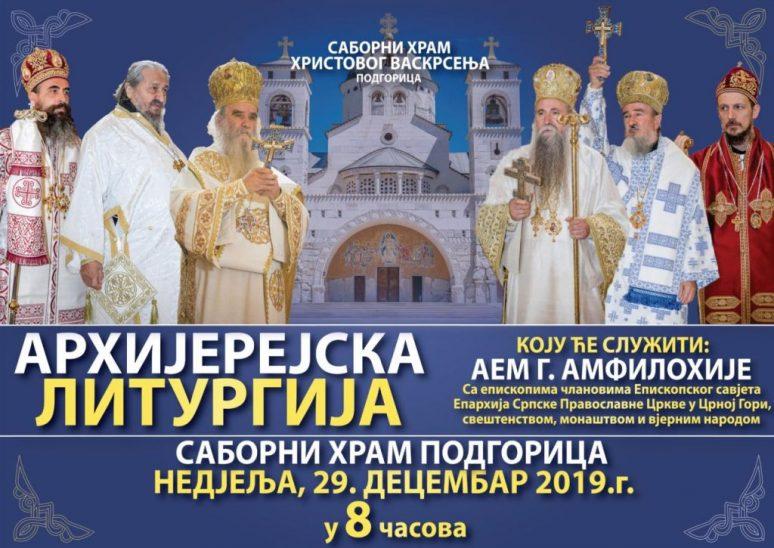 Plakat Arhijerejska Liturgija Episkopski Savjet Cg 29122019