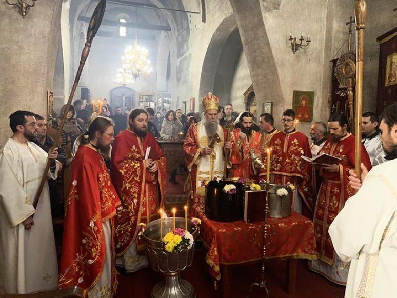 Jan 2020 Arhijerejska Liturgija Na Krstovdan U Djurdjevim Stupovima 15