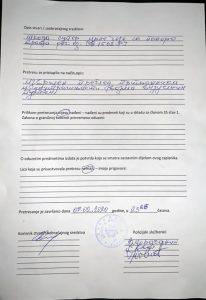 Feb 2020 Polijica Pretresla Vozilo Vladike Joanikija 2