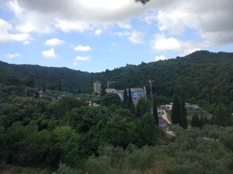 Hilandar Manastir Sveta Gora Panorama Foto Nikola Trklja