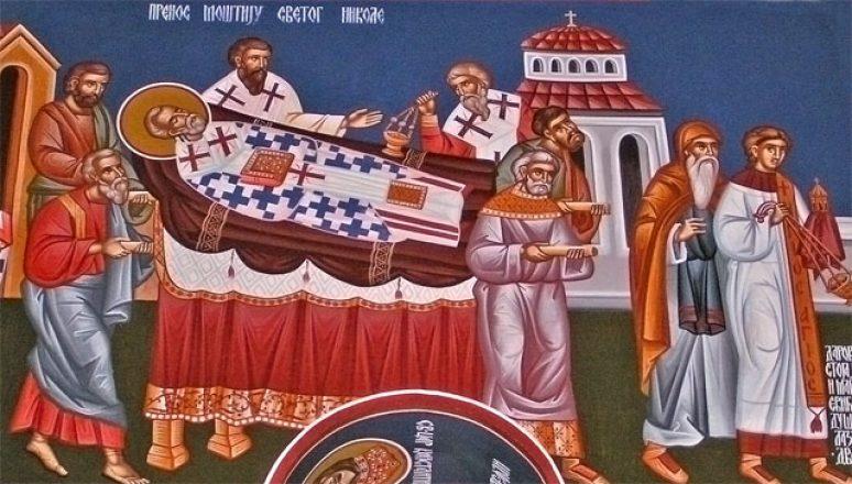 Prenos moštiju Svetog oca Nikolaja