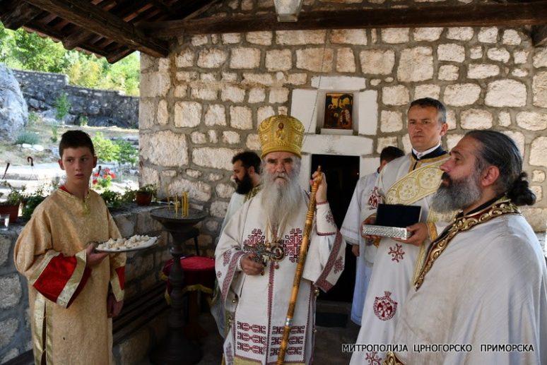 Митрополит Амфилохије богослужио у Добрској ћелији