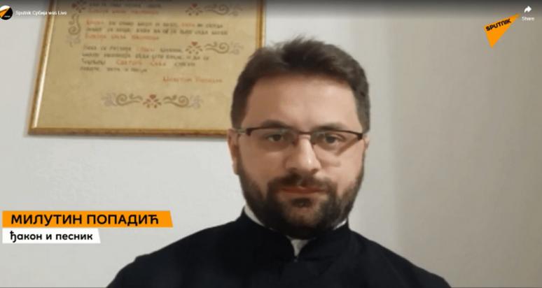 Ђакон и песник Милутин Попадић фото принтскрин