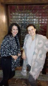 Gošća Hrama dramska umetnica Jelena Srećkov sa autorkom emisije.