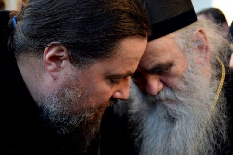 Митрополит и Отац Макарије Савински