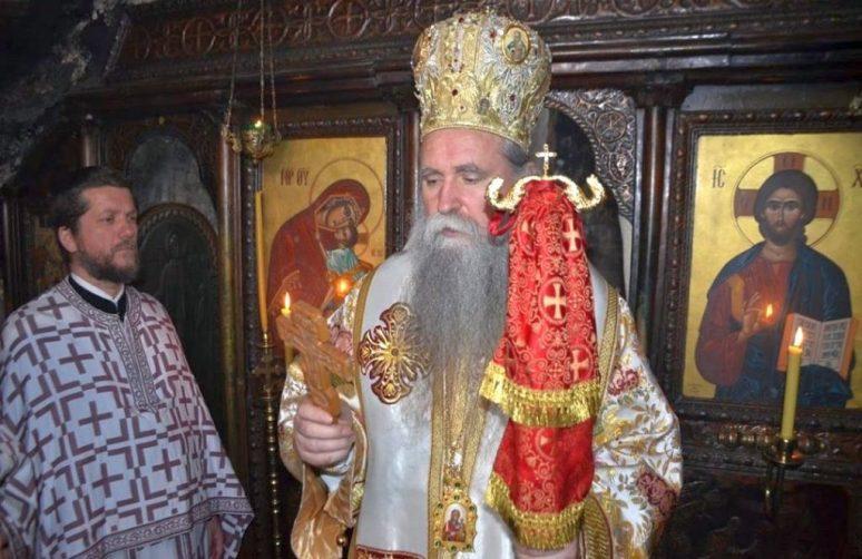 Владика Јоаникије у Горњем Острогу