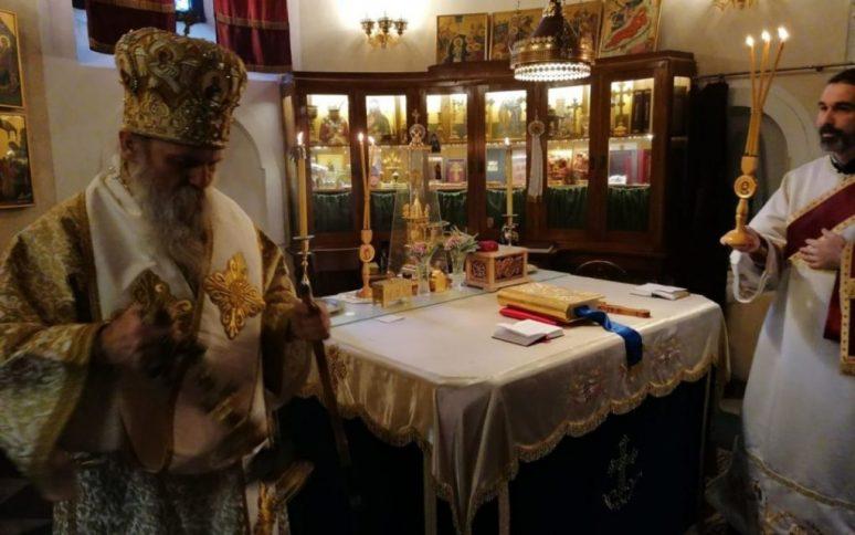 Владика пакрачко славонски Јован богослужио у манастиру Савина