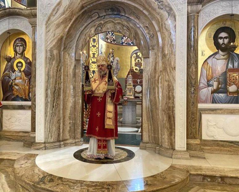 Епископ Кирило у Храму Христовог Васкрсења у Подгорици