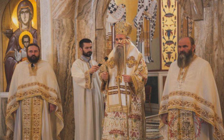 Владика Јоаникије у подгоричком Храму Христовог васкрсења