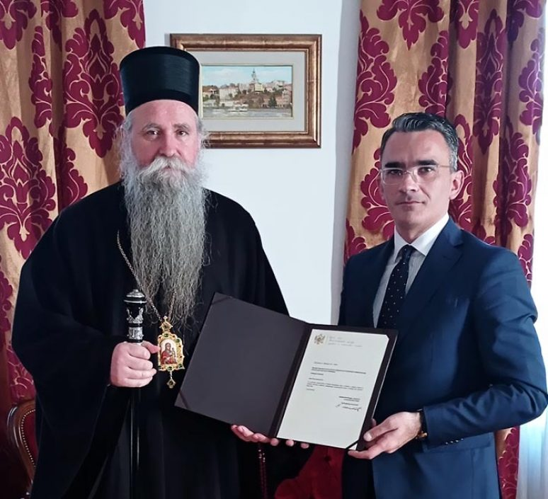 Feb 2021 Ministar Vladimir Leposavic U Posjeti Eparhiji