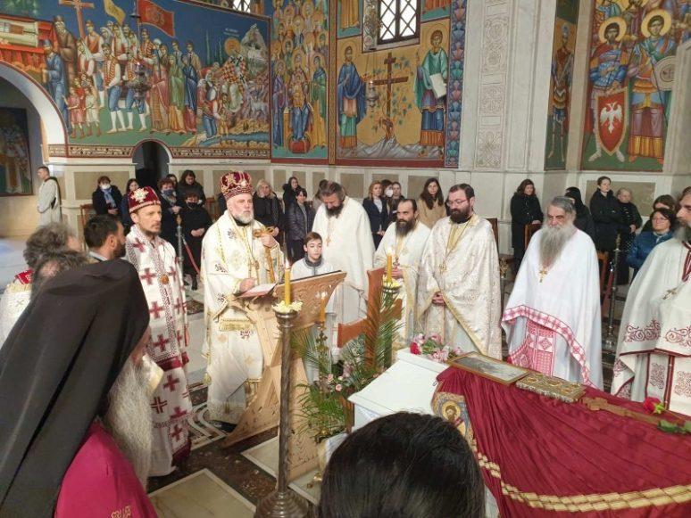 Божанствена литургија уз одар Епископа Атанасија