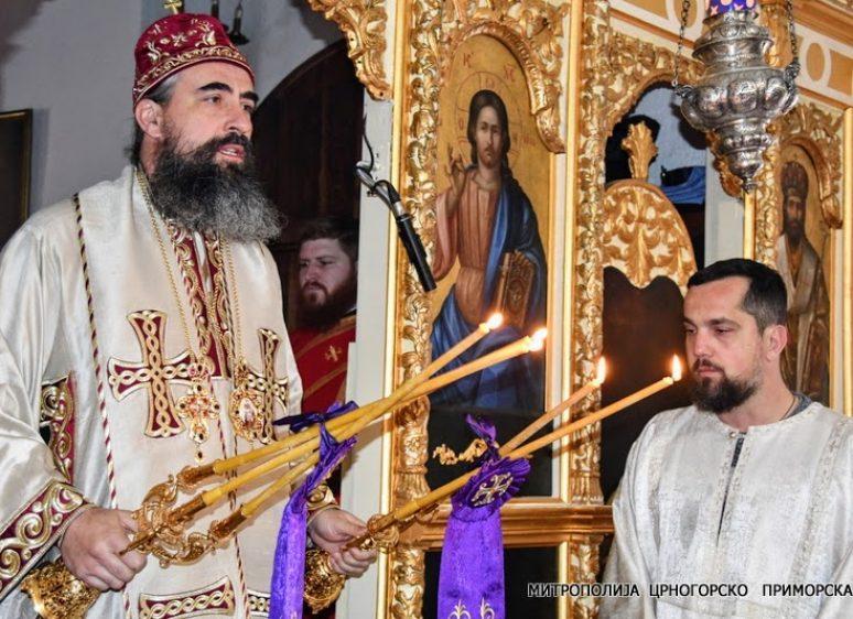 Владика Методије на Теодорову суботу богослужио у Цетињском манастиру