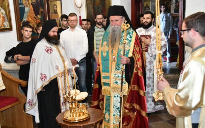 Бденије у навечерје славе Цетињског манастира
